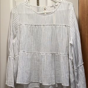 Madewell sheer striped top